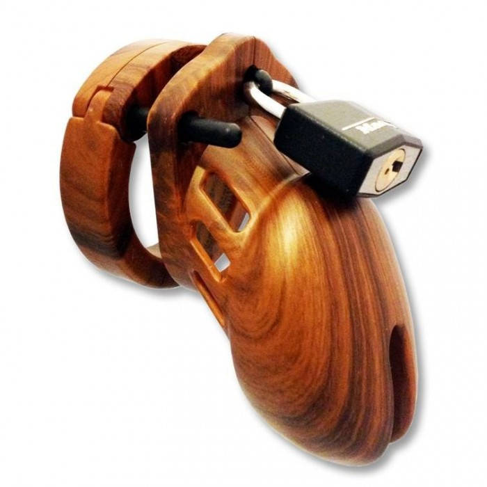 CB-6000 wood style chastity cage