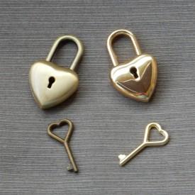Hjertelås med hjertenøgle
