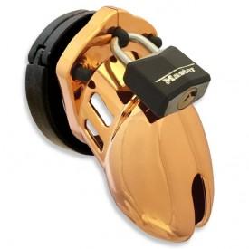 Kyskhedsbælte i guld design fra CB-X. CB-6000 small gold kyskhedsbur.