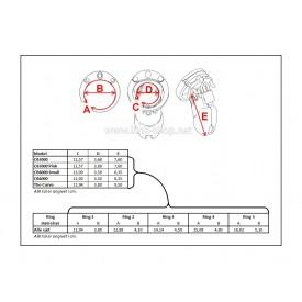 Kyskhedsbælte måle skema for CB-X kyskhedsbure