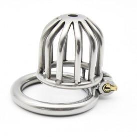 Kyskhedsbur i rustfrit stål fra Kink-Shop.net. Smukt og elegangt designet kyskhedsbælte med indbygget lås. Hurtig og diskret dag