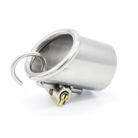 Kyskhedsbælte til mænd med Prins Albert piercing, 2 størrelser kroge og integreret låsesystem.