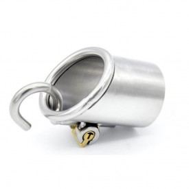 Chastity device made for men with Prince Albert piercing, 2 hook sizes and a integrated locking system.
