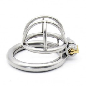 Enjoy small chastity device will fit the man with the smaller penis. Chastity device in stainless steel with integrated locking
