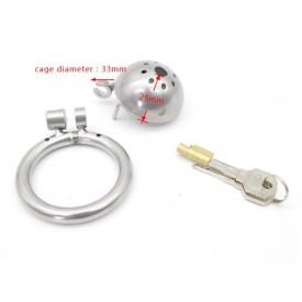 Turtel mini chastity device for men with small penis´s. Select between 3 diffrent sizes of backrings. World wide delviery.
