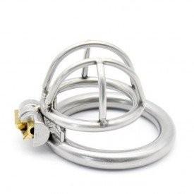 Kyskhedsbælte - Enjoy small  passer til manden der er lidt mindre. Kyskhedsburet i rustfrit stål med integreret låsesystem.